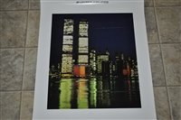 United Airline New York twin towers poster