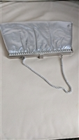 HL rich silvertone clutch with chain