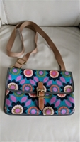 Fossil floral crossbody purse in coated canvas