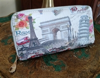 Rome-Paris carry on multi compartment wallet