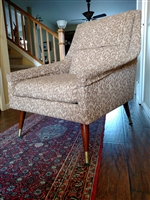Vintage tapestry and wood armchair