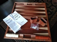 Backgammon game in wooden case