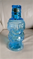 Jolly Mountaineer Decanter Indiana Blue glass