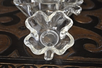 Clear glass Clover serving bowls