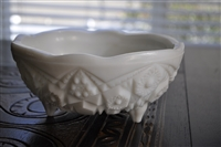 Toltec milk glass bowl by McKee