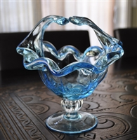 Murano Art Glass Crystal basket Italy