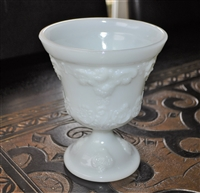 Milk glass vase from E O Broody Co USA