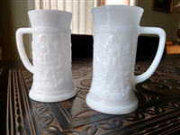 Milk glass beer stein