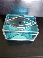Stained glass hand crafted storage box 1990