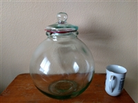 Italian apothecary glass jar