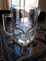 Italian clear glass pitcher