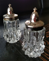 Indiana glass Diamond Cut salt and pepper shaker