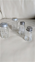 Hazel Atlas clear glass salt and pepper shaker