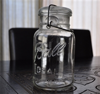 Vintage Ball Ideal clear glass jar QT