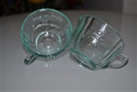 Indiana Glass Madrid blue teacups set