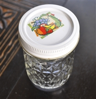 Bell medium glass jar in diamond pattern