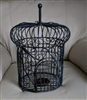 Large metal ornate cage candle holder decor