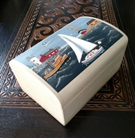 Nautical theme large wooden box