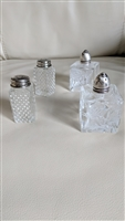 Glass shakers with one sterling toppers collection