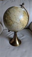 Decorative Globe on aged gold tone stand