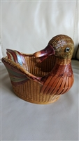 Colorful Duck woven basket decoration or storage