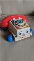 1961 Fisher Price Chatter Pull Along Rotary Phone