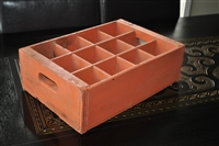 Vintage wooden bottle container box