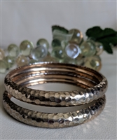 Bangle bracelet in set of two