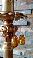 Long Baltic Amber dangle earrings