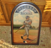 Colorado Rockies wooden board