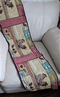 Art Tapestry table runner in patchwork style