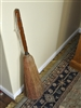 Vintage wood and straw broom