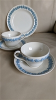 Wedgwood of Etruria Barlaston Queensware teacups