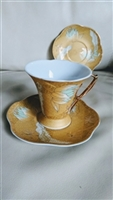 Vicko porcelain footed cup saucers Greece
