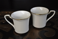 Two flat cups from Golden Cove Noritake