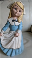 Porcelain Dutch girl tall interior decor