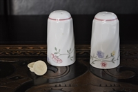 Floral porcelain shakers made in England