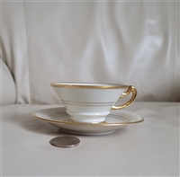 Hertel Jacob Bavarian teacup with saucer US Zone