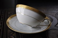 Noritake Gold border teacup and saucer