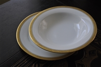 Noritake Gold border soup bowl and salad plate