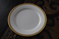 Noritake Gold border large dinner plate