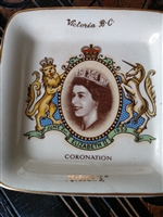 Butter pot coronation of Queen Elizabeth 1953 English