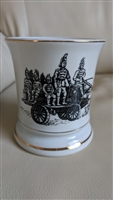 Porcelain mustache cup with German soldiers decor