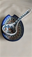 Porcelain ladle with drip bowl made in POLAND