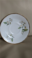 Staffordshire saucer blooming berries bushes