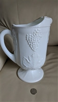 Harvest Milk Glass by Colony huge grape pitcher