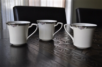 Halifax by NORITAKE flat cups set of 3