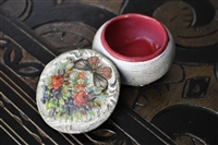 Elegant trinket ceramic storage box