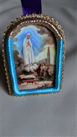 Our Lady of Guadalupe hand made fabric icon