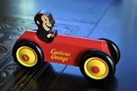 Curious George wooden car with moving wheels